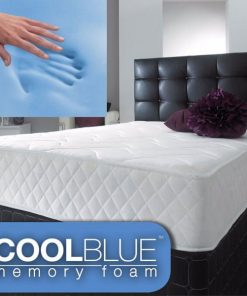 Cool Surface Blue Open Coil Spring Memory Foam Mattress