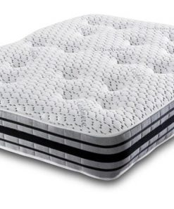 Cool Blue 10 Inch 1000 Open Coil Memory Foam Spring Mattress-3D Border