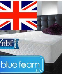 Cool Blue Memory Foam Spring Mattress