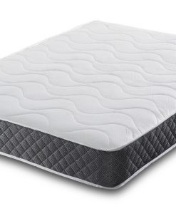 Luxury Cool Blue Gel Open Coil Spring Memory Foam Mattress- Cool Sleep Gel Memory Foam Mattress