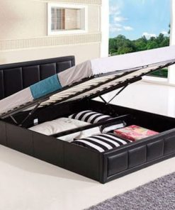 Perla Italian Designer Faux Leather Bed