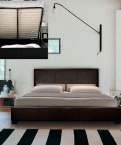 Designer Leather Bed With Storage