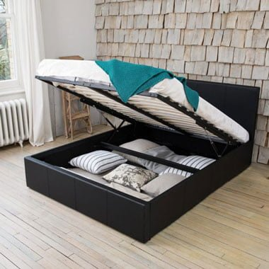 Rizzo Designer Leather Bed With Mattress Options