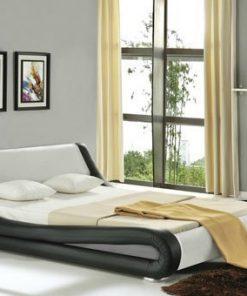 Capulet Italian Designer Faux Leather Bed frame