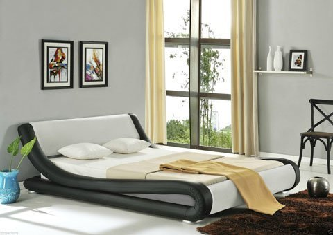 Capulet Italian Designer Faux Leather Bed