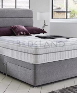 grey suede divan bed - divan storage bed - divan headboard - divan bed frame - divan bed base
