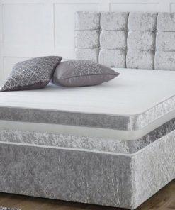 silver divan bed