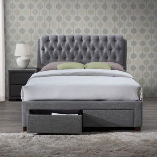 Aisley Fabric Upholstered Bed