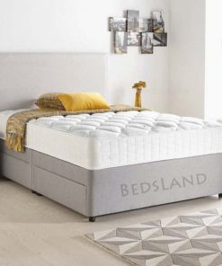 Modern Luxury Sude Divan Bed Set-Under Bed Storage Options