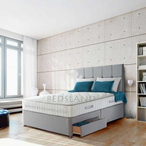beds for sale with mattress, grey suede divan bed - double divan bed - divan bed base - divan storage base