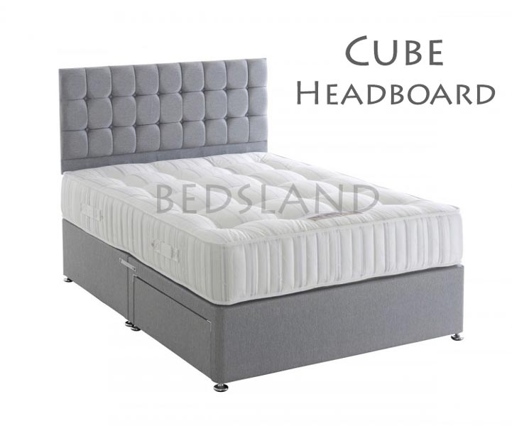 Chenille Divan Bed In Grey With Mattress Amp Drawers Storage