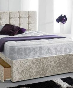 divan bed headboard mattress single double king size free cheap base - divan bed with memory foam mattress - 1500 pocket spring memory foam mattress with divan bed