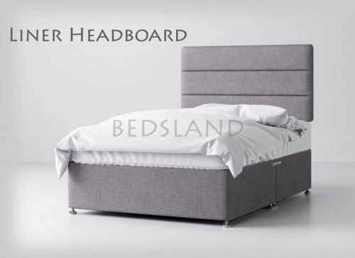 Grey Divan Beds with Headboard and Storage