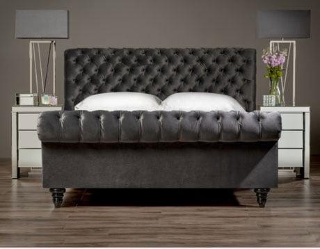 AZZURRA Chesterfield Sleigh Bed