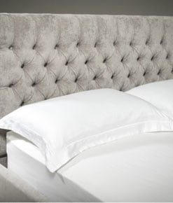 CALOGERA Upholstered Sleigh Bed