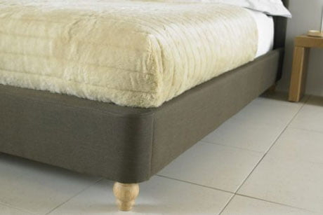 BIANCA BELIZE WING FABRIC SLEIGH BED