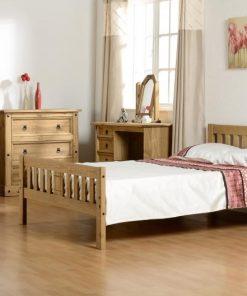 pine wooden bed frame - single bed frame - double bed frame