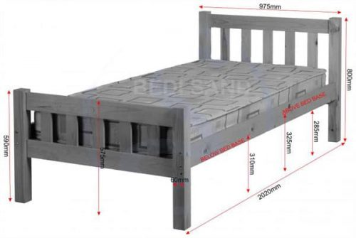 Carlow Wooden Bed Set With Mattress Discount Sale Free Delivery