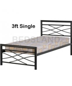 Kelly metal bed frame - iron bed - cheap metal beds - free delivery - free return - mattress - 3ft single bed - 4ft6 double beds