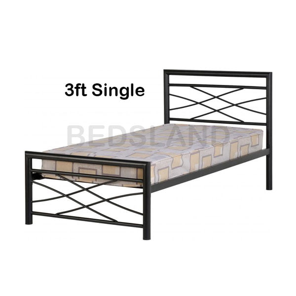 uk availability c3ba5 43a5e Med Kelly Metal Frame Bed Double & Single With Mattress