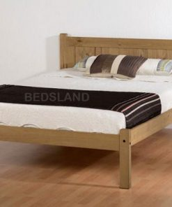MED MAYA WOODEN BED FRAME - 3FT SINGLE - 4FT6 DOUBLE - SMALL DOUBLE - MATTRESS - CHEAP BED - FREE DELIVERY - FREE RETURN