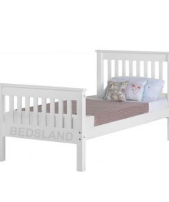 Monaco wooden bed set - headboard - foot end board - grey - white - pine wood - free delivery - cheap bed - 3ft single - 4ft bed - small double bed - 4ft6 double bed - double bed - free delivery - free return