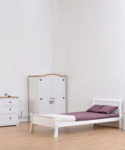 Georgia Designer Fabric Sleigh bed