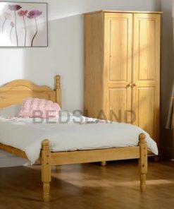 Sol wooden bed set - 3ft single - 4ft6 double - cheap wooden beds - wooden bed with mattress