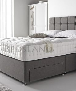 grey divan bed with headboard