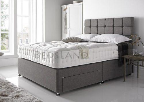 grey divan bed with headboard