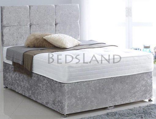 brown - divan bed - storage - drawers - cheap - low price - single - mattress