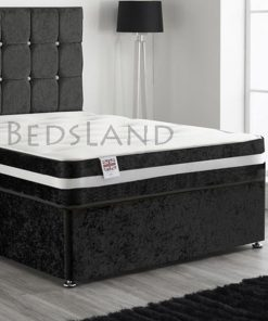 black velvet divan bed - divan storage bed - divan bed base - divan bed frame - cheap divan bed