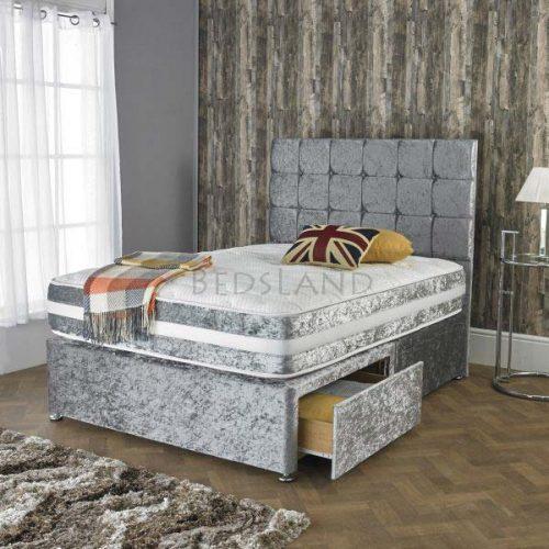 Silver - divan bed - storage - drawers - cheap - low price - single - mattress