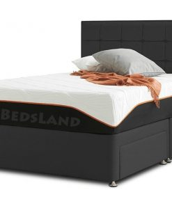 black suede bed - double size bed frame - double bed with storage - double bed with mattress - double divan bed with headboard - bed with drawers