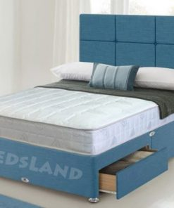 blue divan bed, Divan Beds Double