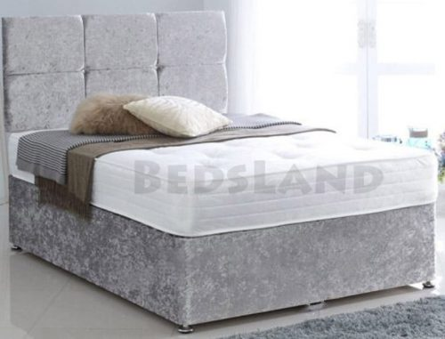 Divan Beds with Mattress, divan bed - storage bed - headboard - king size - double - single - drawers - storage base - feet - chrome - delivery - uk