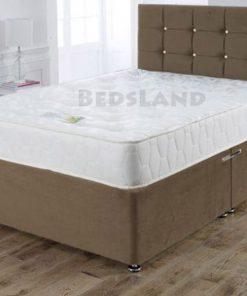 Modern Brown Crushed Velvet Divan Storage Beds