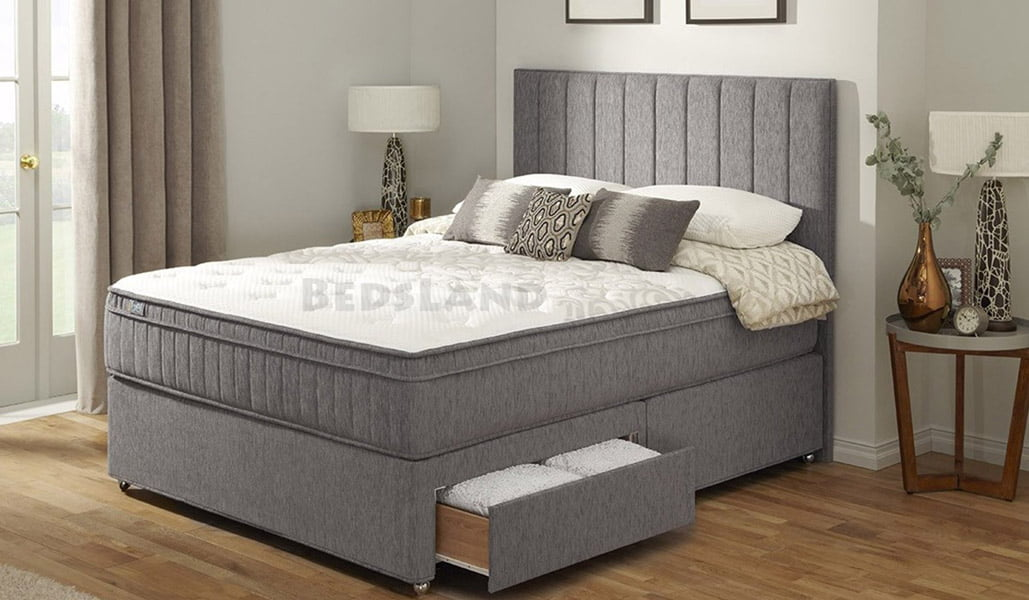 Picture of: King Size Bed With Storage And Headboard Free Delivery