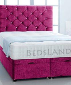 storage bed - divan beds - divan base - beautiful divan beds - pink divan beds - king size divan bed - single divan beds