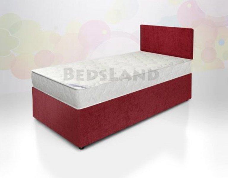 best service b5858 c0480 Isabella Single Crushed Velvet Red Divan Bed
