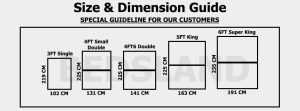 divan size and dimensions - divan bed size guide - what is divan bed size - single bed size - double bed size - small double bed size - king size bed size - super king bed size
