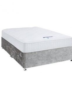 Crushed Velvet Divan Silver Base - Drawers Storage - Small Double - Single - Double - King - Super King Size