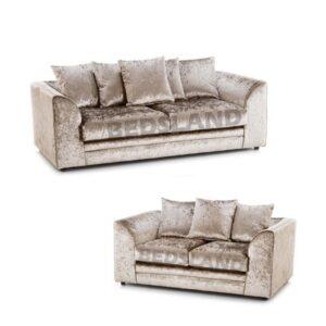 Mink Crushed Velvet Sofa - 2 seater - 3 seater - velvet sofa set