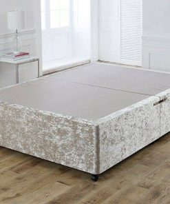 crushed velvet champagne divan base with drawers - no mattresses - no headboard