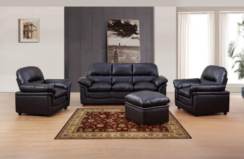 Verona 3 Seater Leather Sofa suite