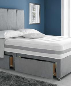 Grey Divan Double Bed