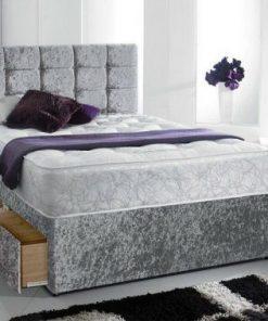 5ft silver Divan Bed